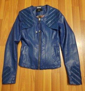 Куртка кожаная женская,новая,обмен
