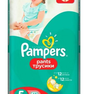 Трусики Pampers Pants 12-18 кг, 5 размер, 48 шт.