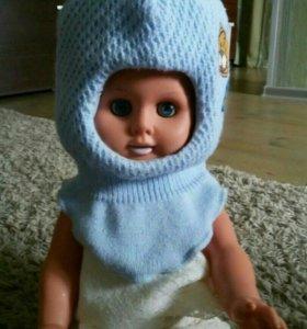 Шапка- шлем для новорожденного