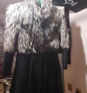 Пальто чернобуркой