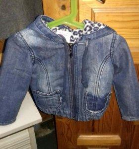 Куртка джинсовая детская.