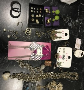 Бижутерия,сережки,кулоны кольца.