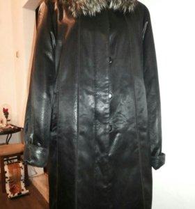 Пальто на кроличем меху р.54-56