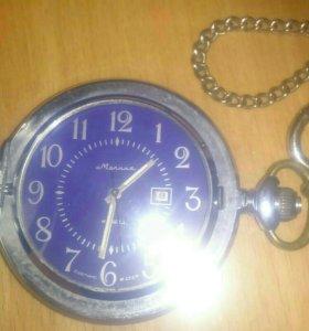 Карманные часы,, молния ,, кварц.