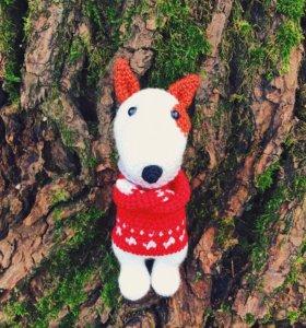 Бультерьер собака щенок игрушка
