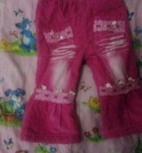 Теплые штанишки на девочку