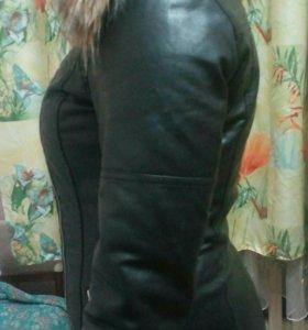 Куртка zolla кожанная