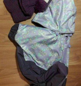 Новый Зимний комбинезон + шапочка