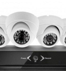 Видеонаблюдение +6 камер + накопитель 1000 гб
