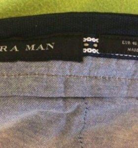 50-52р,ZARA,новые,синие, штаны,брюки,джинсы