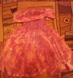Новогоднее платье от 4-7лет