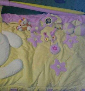 Коврик детский с подушечкой