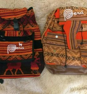 Рюкзаки ручной работы из Перу.