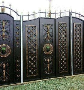 Ворота.ковка