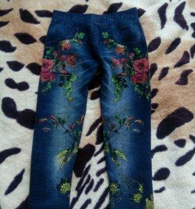 Продам штаны с начесом р-р примерно на 2-3 года