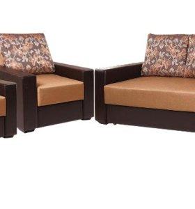 Набор диван + два кресла новый.