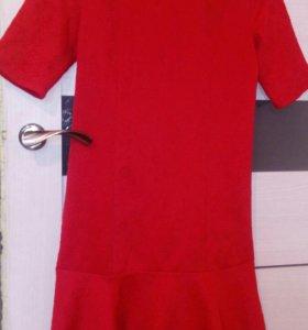 Новое Платье 44 46 красное