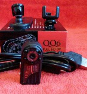 Мини камера QQ6. Датчик движения. Ночная съемка