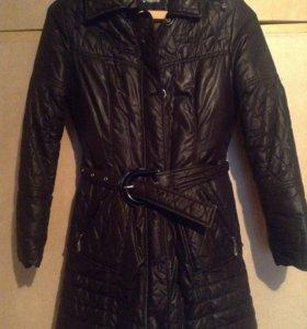 Зимний очень тёплый пуховик-пальто