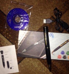 Ручка-шпион 8 гбит аудио-видео запись