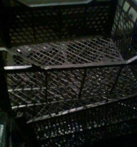 Плосмасовые ящики под