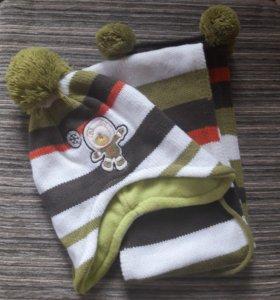 Набор шапка+шарф, новый.