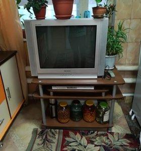 Продам тумбу и телевизор