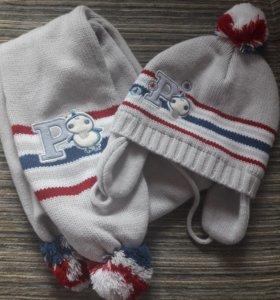 Набор шапка+шарф. Новый.