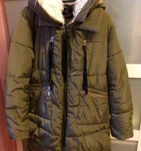 Женское зимнее  пальто + шарфик БЕСПЛАТНО!