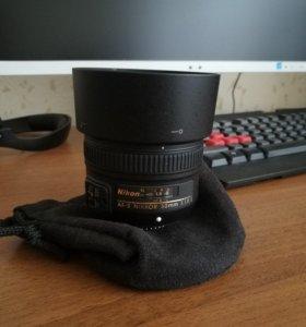 Объектив nikon 50mm f1.8 G nikkor новый