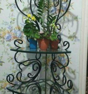 Полка для цветов кованная