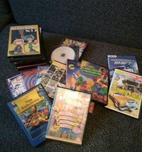 Диски с мультфильмами,сказками,играми