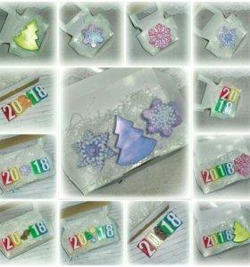 Рождественское мыло наборами