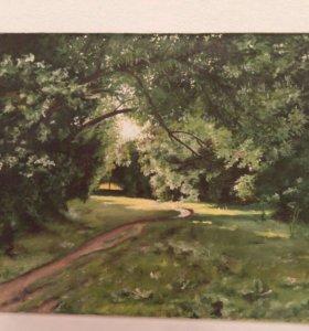 Картина маслом на холсте, пейзаж