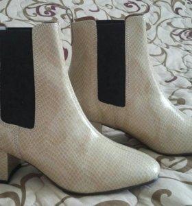 Новые итальянские деми ботинки нат.кожа р.35