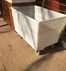 Ванна пластиковая на колесах