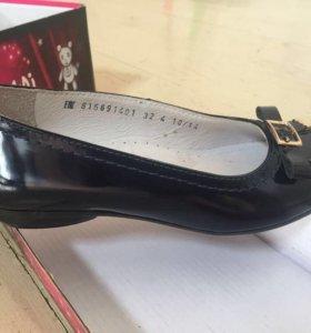 Ортопедические туфли школьные для девочки
