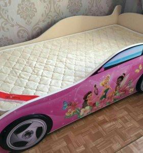 Детская кровать - машинка для девочки ФЕЯ