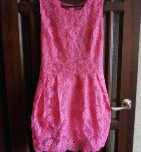 Платье кораловое