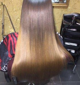Ботокс для волос, кератиновое выпярмление