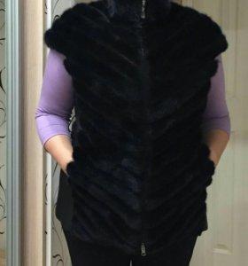 Куртка- жилет норка с кожей