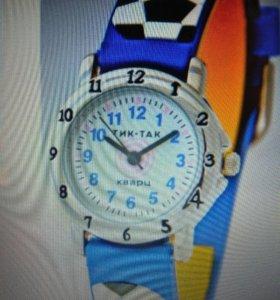 Детские наручные часы тик-так 105-2 синие мячи