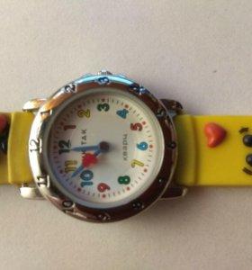 Детские наручные часы тик-так 105-2 желт бож коров