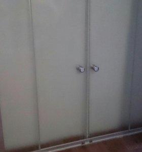 Шторка для ванной двухстворчатая раздвижная
