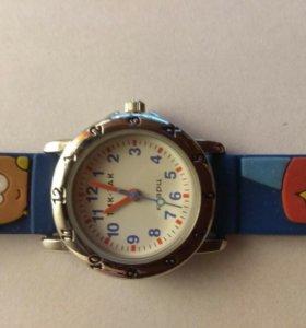 Детские наручные часы тик-так 105-2 синие колобки