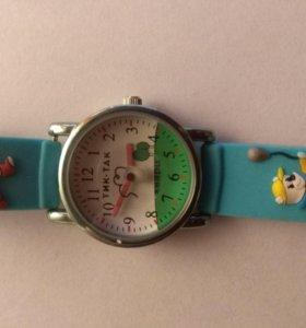 Детские наручные часы тик-так 101б-2 зел мишки