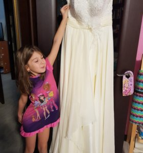 Свадебное платье на беременную 46-48
