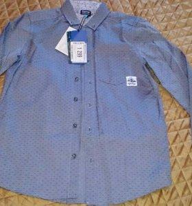 Рубашка новая для мальчика рост 141-146