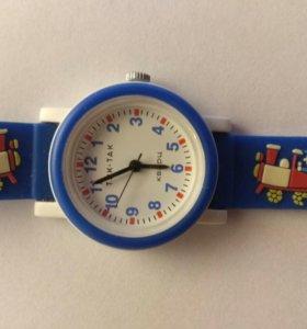 Детские наручные часы тик-так 104-2 синий поезд