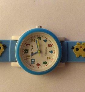 Детские наручные часы тик-так 104-2 голубые котята